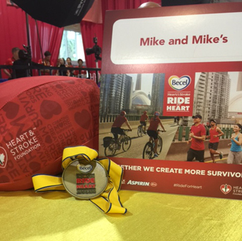 Mike and Mike's Organics at the 29th Becel Heart & Stroke Ride for Heart in Toronto.