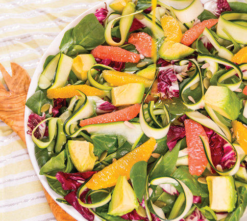 Recipes mike mikes toronto ontario organic food distributor canada citrus and zucchini ribbon salad from plant based recipes forumfinder Images
